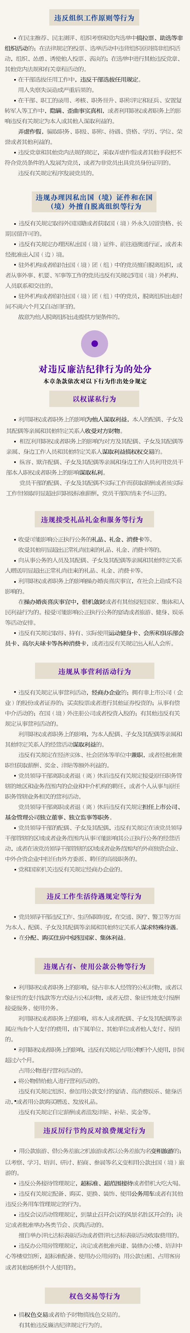 一图读懂《中国共产党纪律处分条例》-中央纪委网站 - 好心情 - 好心情的博客
